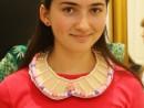 Design Vestimentar Colier cusut si decorat cu margele Delia 130x98 Atelier design vestimentar, Copii 8 18 ani