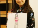 Design Vestimentar Costum contemporan in creioane cerate Ana 130x98 Atelier design vestimentar, Copii 8 18 ani