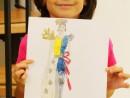 Design Vestimentar Costum contemporan in creioane cerate Ruxandra 130x98 Atelier design vestimentar, Copii 8 18 ani