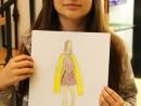 Design Vestimentar Craiasa primaverii Ilustratie in creioane cerate Ilinca 130x98 Atelier design vestimentar, Copii 8 18 ani