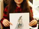 Design Vestimentar Craiasa zapezii Ilustratie in creioane cerate Ana Maria 130x98 Atelier design vestimentar, Copii 8 18 ani