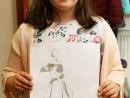 Design Vestimentar Craiasa zapezii Ilustratie in creioane cerate Ayana 130x98 Atelier design vestimentar, Copii 8 18 ani