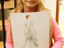 Design Vestimentar Craiasa zapezii Ilustratie in creioane cerate Timeea 130x98 Atelier design vestimentar, Copii 8 18 ani