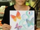 Design Vestimentar Creatie palarie cu chip in acuarele Andra 130x98 Atelier design vestimentar, Copii 8 18 ani