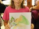 Design Vestimentar Creatie palarie cu chip in acuarele Ioana 130x98 Atelier design vestimentar, Copii 8 18 ani