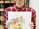 Design Vestimentar Creatie palarie cu chip in acuarele Maria 130x98 Atelier design vestimentar, Copii 8 18 ani