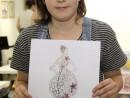 Design Vestimentar Creatie rochie din hartie Lera 130x98 Atelier design vestimentar, Copii 8 18 ani