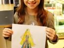 Design Vestimentar Creatie rochie haute couture in acuarele Mara 130x98 Atelier design vestimentar, Copii 8 18 ani
