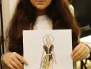 Design Vestimentar Creatie tinuta contemporana Desen in creioane cerate Ana Maria 130x98 Atelier design vestimentar, Copii 8 18 ani