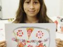 Design Vestimentar Geanta cu imprimeu in acrilice Ioana R 130x98 Atelier design vestimentar, Copii 8 18 ani