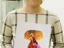 Design Vestimentar Ilustratie Fashion Flori in acuarele markere Alexandra 130x98 Atelier design vestimentar, Copii 8 18 ani