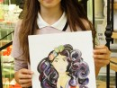 Design Vestimentar Ilustratie Fashion Sunny Gu in acuarele markere Anastasia 130x98 Atelier design vestimentar, Copii 8 18 ani