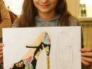 Design Vestimentar Pantofi cu imprimeu Desen in pastel cretat Ariana 130x98 Atelier design vestimentar, Copii 8 18 ani