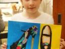 Design Vestimentar Pantofi cu imprimeu Desen in pastel cretat Daria 130x98 Atelier design vestimentar, Copii 8 18 ani