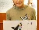 Design Vestimentar Pantofi cu imprimeu Desen in pastel cretat Gloria 130x98 Atelier design vestimentar, Copii 8 18 ani