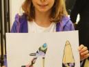 Design Vestimentar Pantofi cu imprimeu Desen in pastel cretat Ioana 130x98 Atelier design vestimentar, Copii 8 18 ani