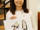 Design Vestimentar Pantofi cu imprimeu Desen in pastel cretat Ioana P 130x98 Atelier design vestimentar, Copii 8 18 ani