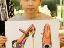 Design Vestimentar Pantofi cu imprimeu in pastel cretat Ioana 130x98 Atelier design vestimentar, Copii 8 18 ani