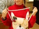 Design Vestimentar Poseta Iepuras cusuta si decorata Anastasia 130x98 Atelier design vestimentar, Copii 8 18 ani
