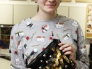 Design Vestimentar Poseta cusuta in stilul Punk Ilinca 130x98 Atelier design vestimentar, Copii 8 18 ani