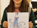 Design Vestimentar Schita profil feminin in creioane cerate Catinca 130x98 Atelier design vestimentar, Copii 8 18 ani