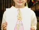 Design Vestimentar Schita profil feminin in creioane cerate Timeea 130x98 Atelier design vestimentar, Copii 8 18 ani