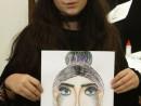 Design Vestimentar Studiu cap frontal in creioane cerate Ana Maria 130x98 Atelier design vestimentar, Copii 8 18 ani