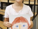 Design Vestimentar Studiu cap frontal in creioane cerate Daria 130x98 Atelier design vestimentar, Copii 8 18 ani