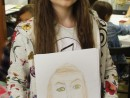 Design Vestimentar Studiu cap frontal in creioane cerate Ilinca 130x98 Atelier design vestimentar, Copii 8 18 ani