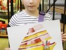Design Vestimentar Studiu drapaj cu parfum in acuarela Daria 130x98 Atelier design vestimentar, Copii 8 18 ani