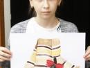Design Vestimentar Studiu drapaj cu parfum in acuarela Ioana R 130x98 Atelier design vestimentar, Copii 8 18 ani