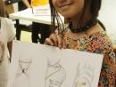 Design Vestimentar Studiu picior in creioane cerate Ana 130x98 Atelier design vestimentar, Copii 8 18 ani