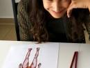 Design Vestimentar Studiul corpului uman Creioane colorate Femeie Anastasia 130x98 Atelier design vestimentar, Copii 8 18 ani