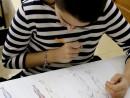 Design Vestimentar Studiul corpului uman Creioane colorate Femeie Maria2 130x98 Atelier design vestimentar, Copii 8 18 ani