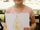 Design Vestimentar Studiul corpului uman in creioane cerate Daria 130x98 Atelier design vestimentar, Copii 8 18 ani