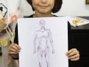 Design Vestimentar Studiul corpului uman in creioane cerate Ruxandra 130x98 Atelier design vestimentar, Copii 8 18 ani