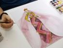 Design vestimentar Creatie vestimentara Epoca medievala Acuarele Terez 130x98 Atelier design vestimentar, Copii 8 18 ani
