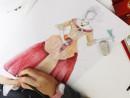 Design vestimentar Creatie vestimentara in stil baroc Creioane acuarelabile Ema 130x98 Atelier design vestimentar, Copii 8 18 ani