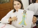Design vestimentar Pictura in acuarele Costumul in Antichitate Egipt Daria 130x98 Atelier design vestimentar, Copii 8 18 ani