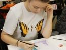 Design vestimentar Pictura in acuarele Studiu drapaj cu palarie Ana Maria 130x98 Atelier design vestimentar, Copii 8 18 ani