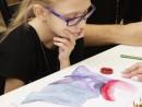 Design vestimentar Pictura in acuarele Studiu drapaj cu palarie Ilinca 130x98 Atelier design vestimentar, Copii 8 18 ani
