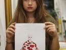 GRUP ILUSTRATIE DE MODA TEMA ILUSTRATORI SEDINTA 4 ACRILICE 130x98 Atelier design vestimentar, Copii 8 18 ani