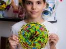 Academia de Primavara Martisor Ceas Vitraliu Mara 130x98 Atelier Arte Decorative