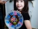 Academia de Primavara Paste Farfurie decorativa tehnica pointilista Ana Maria 130x98 Atelier Arte Decorative