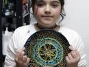 Academia de Primavara Paste Farfurie decorativa tehnica pointilista Ileana 130x98 Atelier Arte Decorative