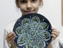 Academia de Primavara Paste Farfurie decorativa tehnica pointilista Mara 130x98 Atelier Arte Decorative