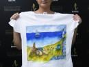 Scoala de Vara Arte decorative Tehnica servetelului culori textile Tricou decorat Antonia1 130x98 Scoala de Vara, 2017 – Galerie Foto