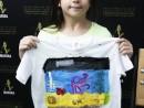Scoala de Vara Arte decorative Tehnica servetelului culori textile Tricou decorat fata Ema 130x98 Scoala de Vara, 2017 – Galerie Foto