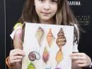 Scoala de Vara Grafica Creioane colorate Ilustratie scoici Maria Carina1 130x98 Scoala de Vara, 2017 – Galerie Foto
