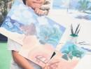 Scoala de Vara Pictura Acrilic pe panza Peisaj marina Triptic David 130x98 Scoala de Vara, 2017 – Galerie Foto